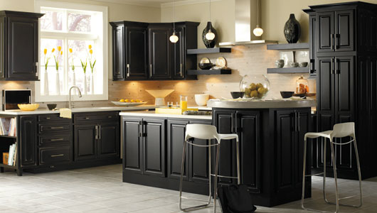 An guide for buying black kitchen cabinets cabinets direct Black cabinet kitchens pictures