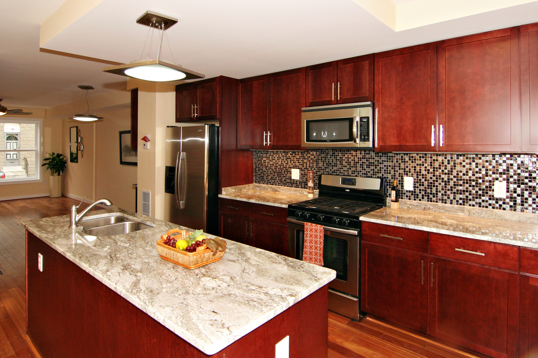 The benefits of using cherry cabinets cabinets direct for Best wall colors for cherry kitchen cabinets