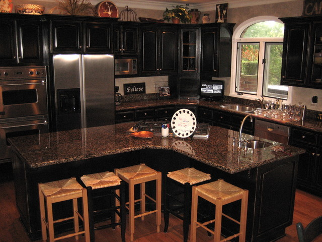 Best Distressed Black Kitchen Cabinets