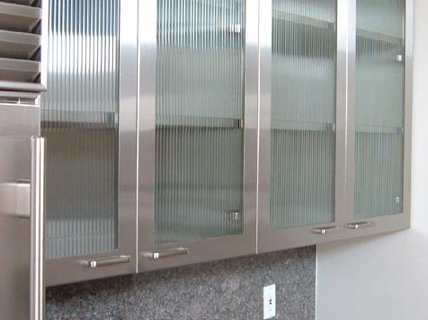 Futuristic Kitchen Glass Cabinet Doors Decoration