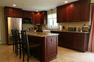 best quality dark cherry kitchen cabinets