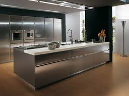 contemporary stainless steel kitchen cabinets