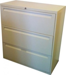 old and used file cabinets
