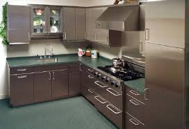 shiny stainless steel cabinets kitchen