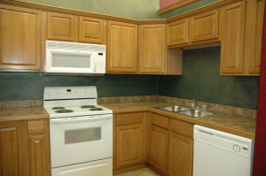 sturdy unfinished oak cabinets