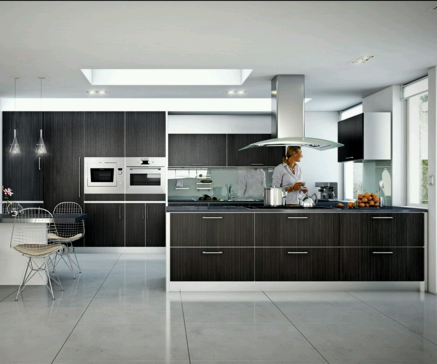 Tips of designing nice and simple modern kitchens for Simple modern kitchen cabinets