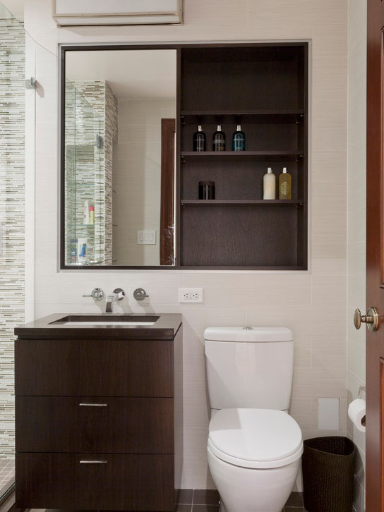 Small cabinets for bathroom storage