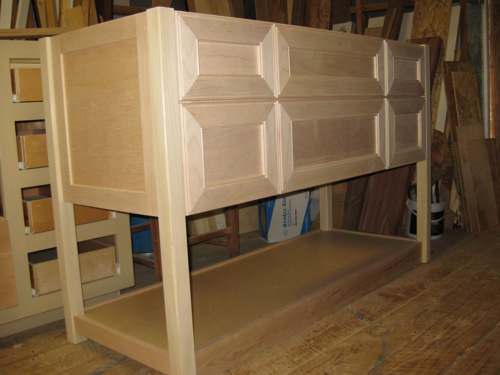 Unfurnished Unfinished Cabinets
