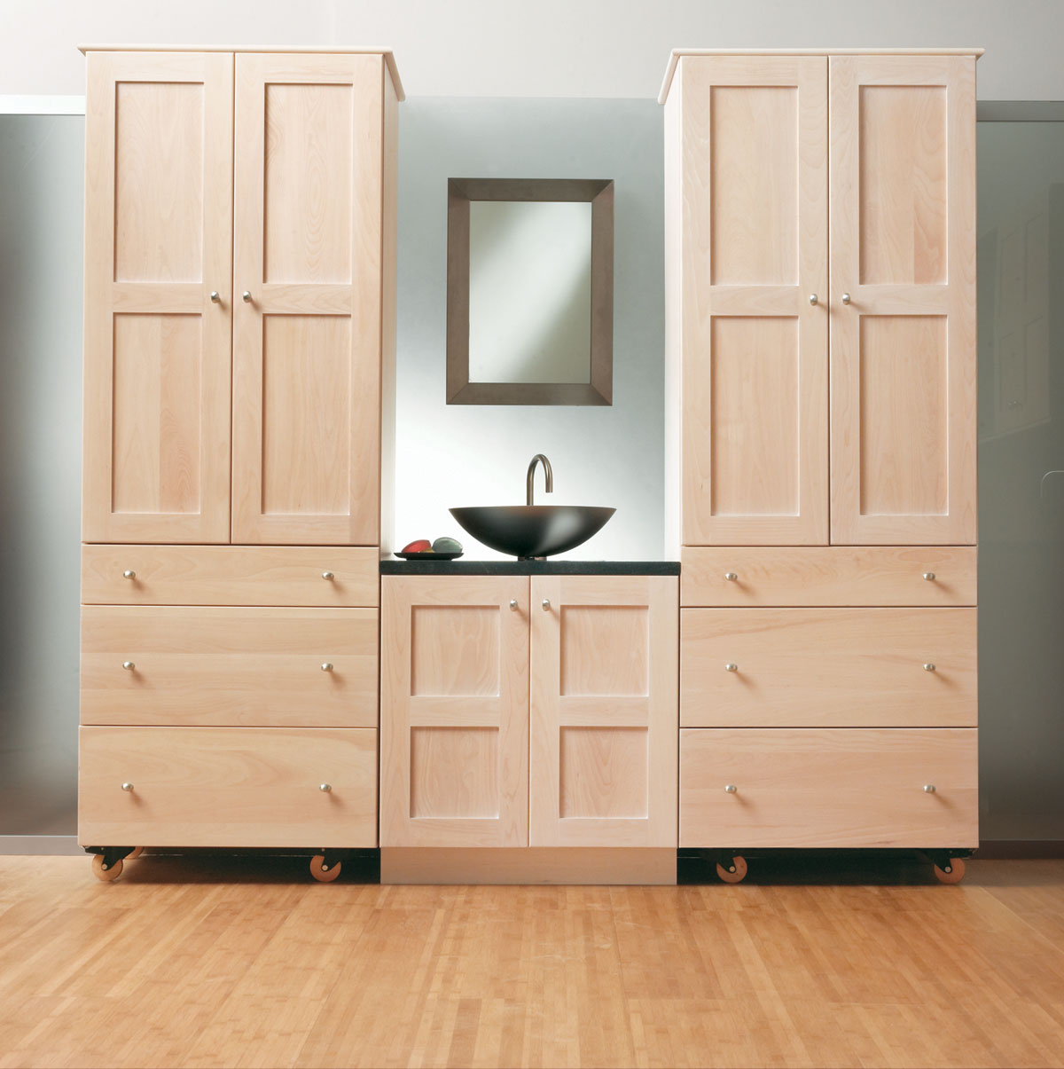 Stack And Bathroom Storage Cabinets